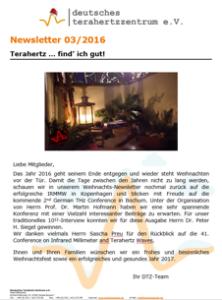 Newsletter 03/2016